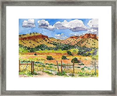 Beyond Ojo Caliente Framed Print by Gurukirn Khalsa