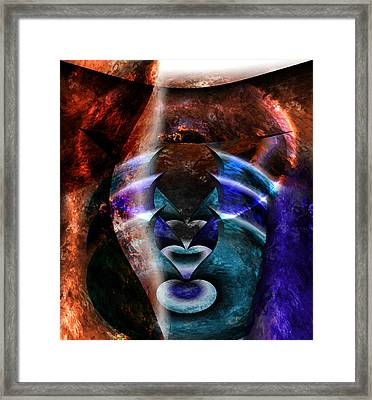 Beyond The Mask Framed Print by Christopher Gaston