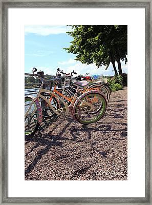 Bicycles Framed Print by Sophie Vigneault