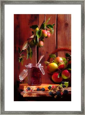 Blackberry And Apple Jam Framed Print by Amanda Elwell