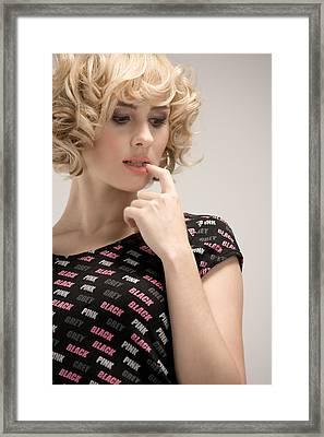 Blond Lady Framed Print by Ralf Kaiser