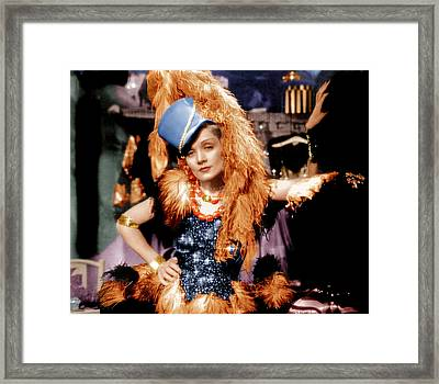 Blonde Venus, Marlene Dietrich, 1932 Framed Print by Everett