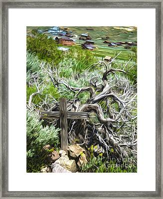 Bodie Ghost Town - Boot Hill 02 Framed Print by Gregory Dyer