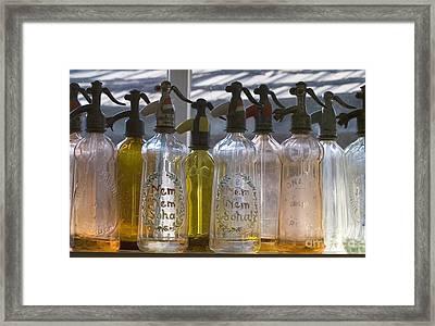 Bottle Of Water   Framed Print by Odon Czintos