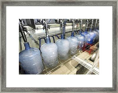 Bottled Water Production Framed Print by Ria Novosti