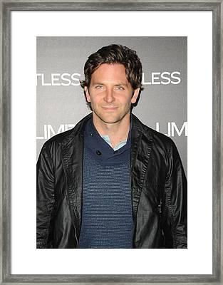 Bradley Cooper At Arrivals Framed Print by Everett