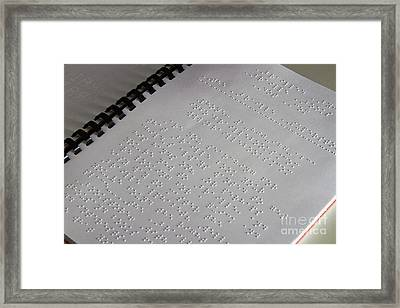 Braille Framed Print by Photo Researchers, Inc.