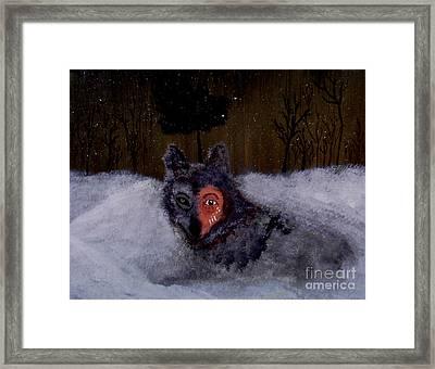 Brave Wolf Framed Print by Ayasha Loya Aka Pari  Dominic