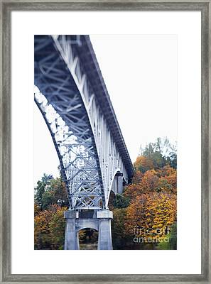 Bridge Footing And Anchor Point Framed Print by Don Mason