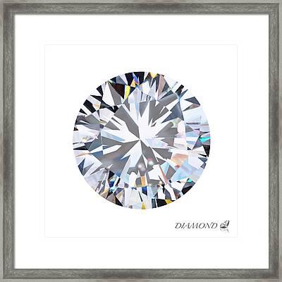 Brilliant Diamond Framed Print by Setsiri Silapasuwanchai