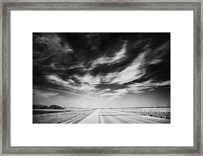 broadway bridge over the South Saskatchewan river Saskatoon Canada Framed Print by Joe Fox