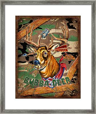 Camouflage Framed Print featuring the painting Bubba Deer by JQ Licensing