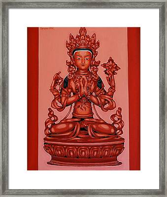 Buddha Of Compassion Framed Print by Varvara Stylidou