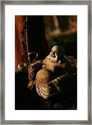 Buddha Of The Forest Framed Print by Lorraine Devon Wilke