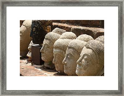 buddha statue in Thailand Framed Print by Thanawat  Wongsuwannathorn