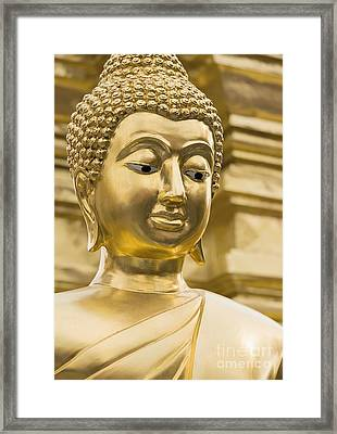 Buddha's Statue Framed Print by Roberto Morgenthaler