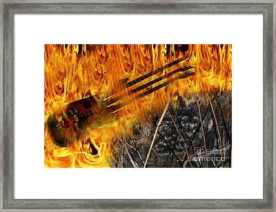 Burning Bridges Framed Print by The Stone Age