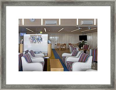 Business Lounge At An Airport Framed Print by Jaak Nilson