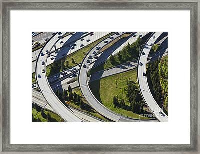 Busy Freeway Interchange Framed Print by Don Mason