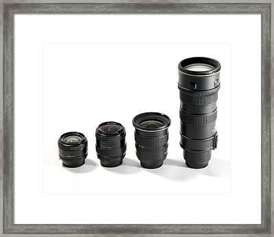 Camera Lenses Framed Print by Johnny Greig