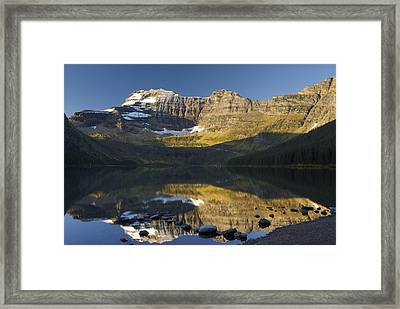 Cameron Lake, Waterton, Alberta, Canada Framed Print by Philippe Widling