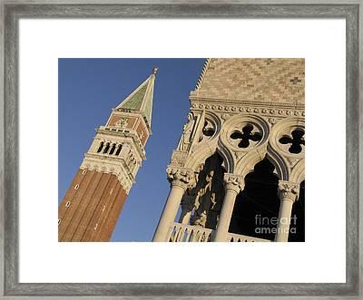 Campanile. Plazza San Marco. Venice Framed Print by Bernard Jaubert