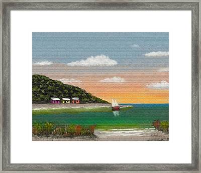 Canary Cove Framed Print by Gordon Beck