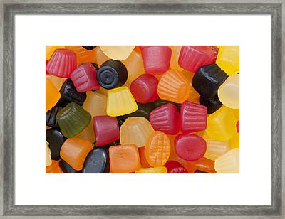 Candy Background Framed Print by Andrew Dernie
