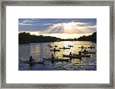Canoeing Framed Print by Elena Elisseeva