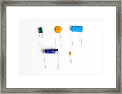 Capacitors Framed Print by Photo Researchers, Inc.