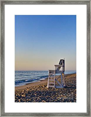 Cape Cod Lifeguard Stand Framed Print by John Greim