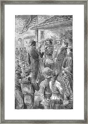 Capture Of Santa Fe, 1846 Framed Print by Granger