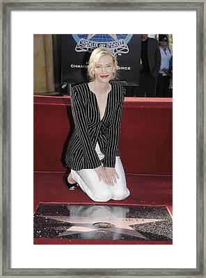 Cate Blanchett Wearing Armani Prive Framed Print by Everett