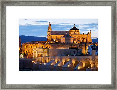 Cathedral Mosque Of Cordoba Framed Print by Artur Bogacki