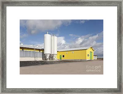 Cattle Feeding Tanks Framed Print by Jaak Nilson