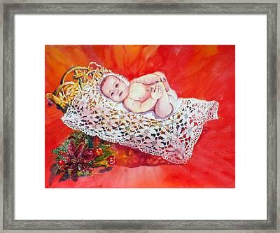 Celestial Grace Framed Print by Estela Robles