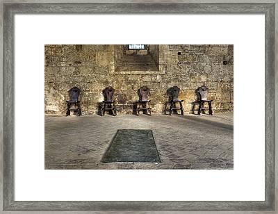 Chairs Framed Print by Joana Kruse