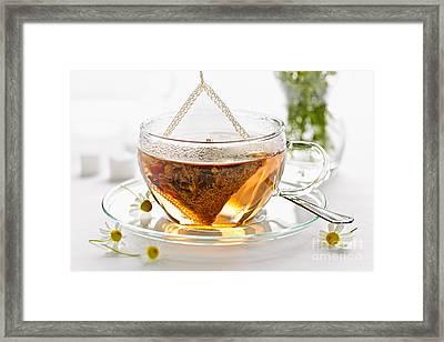 Chamomile Tea Framed Print by Elena Elisseeva