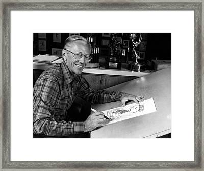 Charles M. Schulz, 1922-2000, American Framed Print by Everett