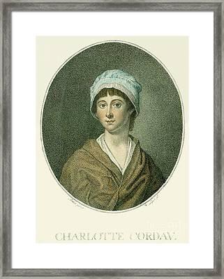 Charlotte Corday Framed Print by Granger
