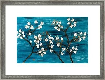 Cherry Blossoms Framed Print by Gretchen Martini