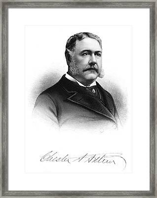 Chester Alan Arthur Framed Print by Granger