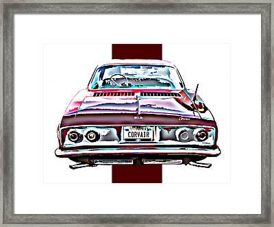Chevy Corvair Rear Study Framed Print by Samuel Sheats
