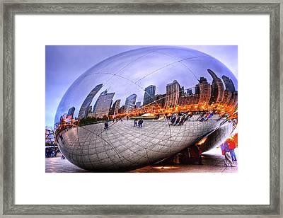 Chicago Bean Framed Print by Mark Currier