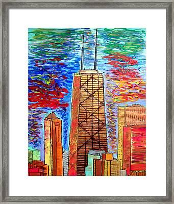 Chicago John Hancock Building Framed Print by Char Swift
