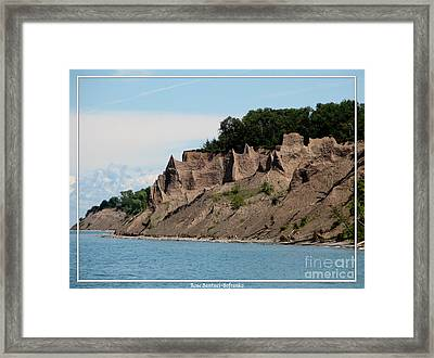 Chimney Bluffs On Lake Ontario Framed Print by Rose Santuci-Sofranko