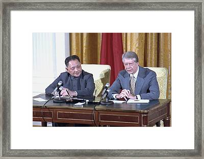 Chinese Vice Premier Deng Xiaoping Framed Print by Everett