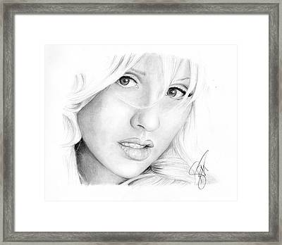 Christina Aguilera Framed Print by Rosalinda Markle