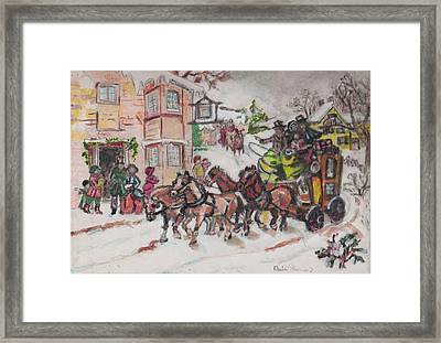 Christmas Buggy Framed Print by David Garren
