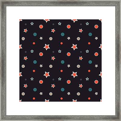 Christmas Stars Framed Print by Design Windmill